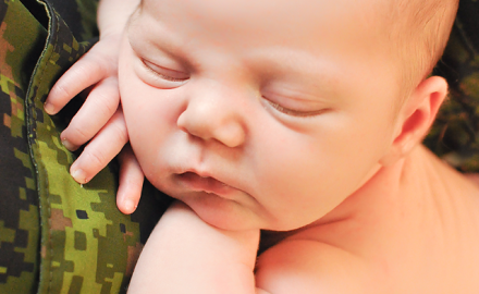 newborn baby + army camo