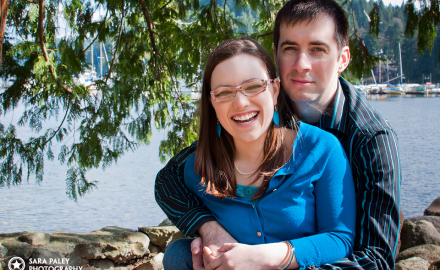 Deep Cove engagement, couples portraits