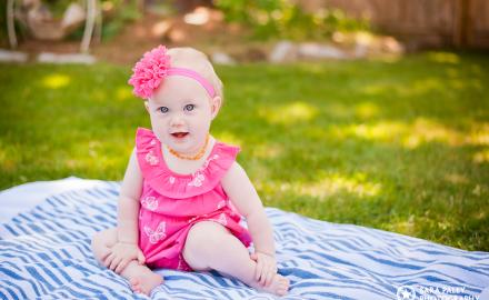 Baby Chloe in the backyard