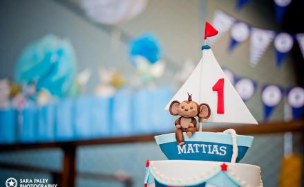 SweeTease Cupcakes - Nautical 1st Birthday Cake